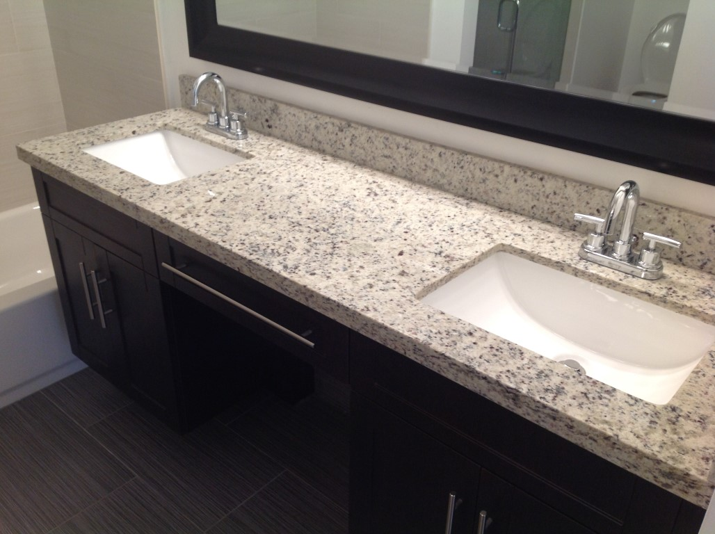 how to clean granite countertops in bathroom