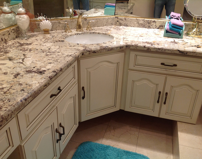Best Bathroom Countertops : Granite bathroom countertops best for less